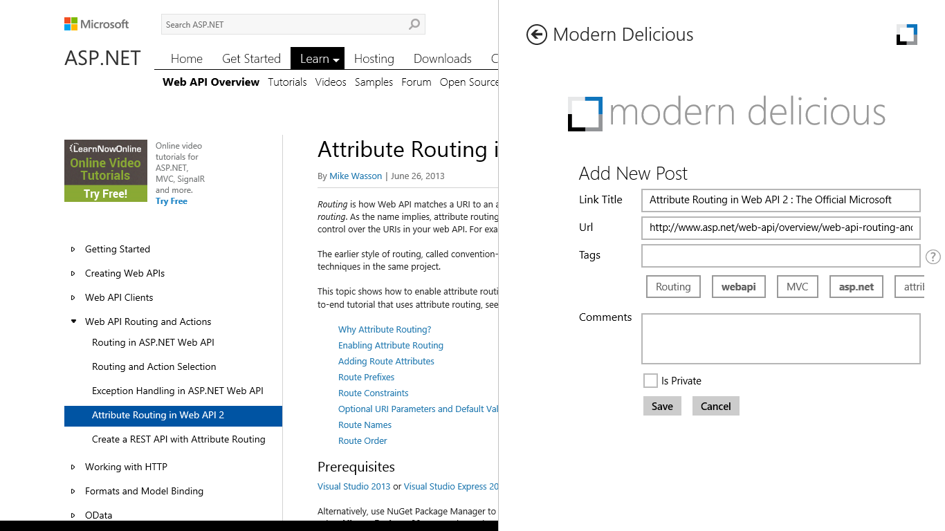 Modern Delicious Add New Post Recommended Tags